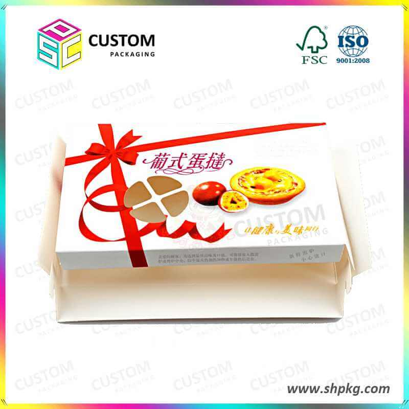 Egg Tart Paper Packing Box