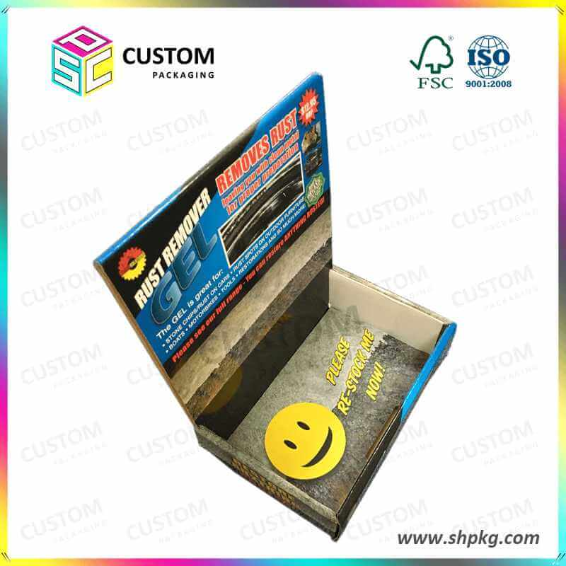 PDQ-Custom Small Cardboard Paper Printed Corrugated Retail Counter Display Box