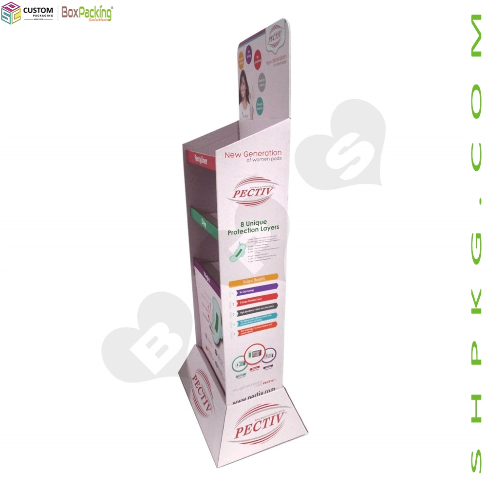 Sanitary Napkin Corrugated Floor Stands