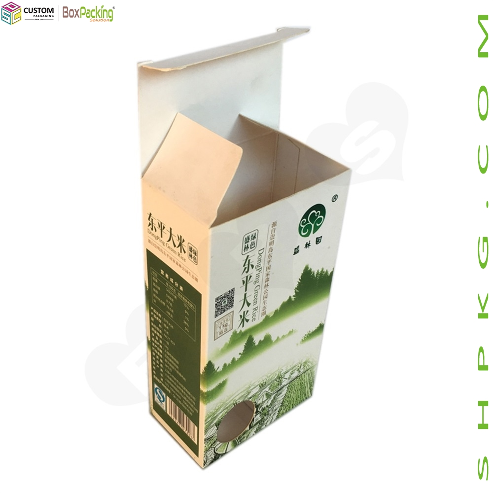 White Paperboard Box For Rice