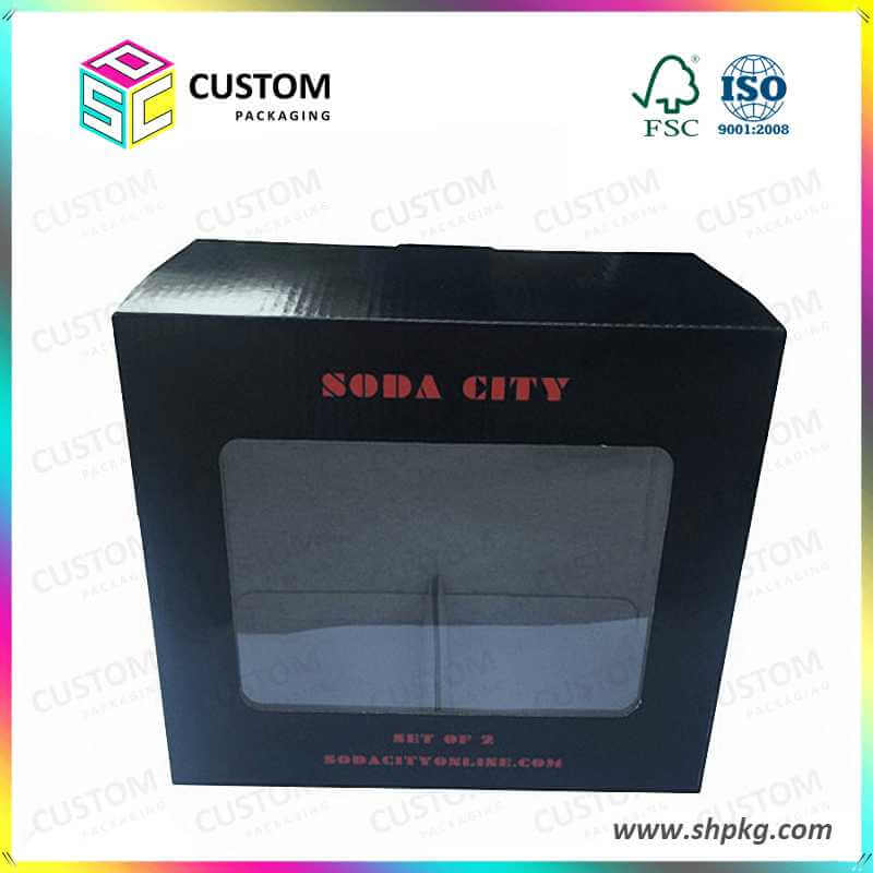 Foldable black box with window