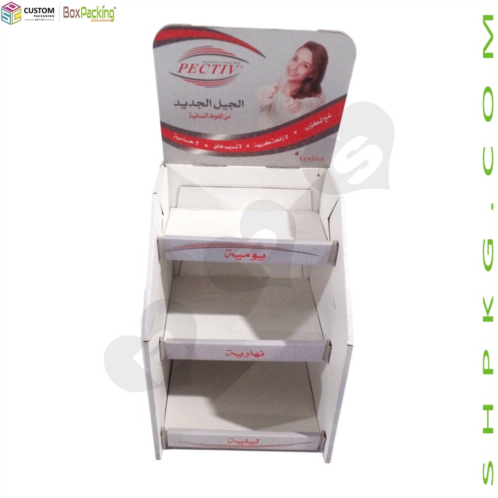 retail display box for sanitary napkin