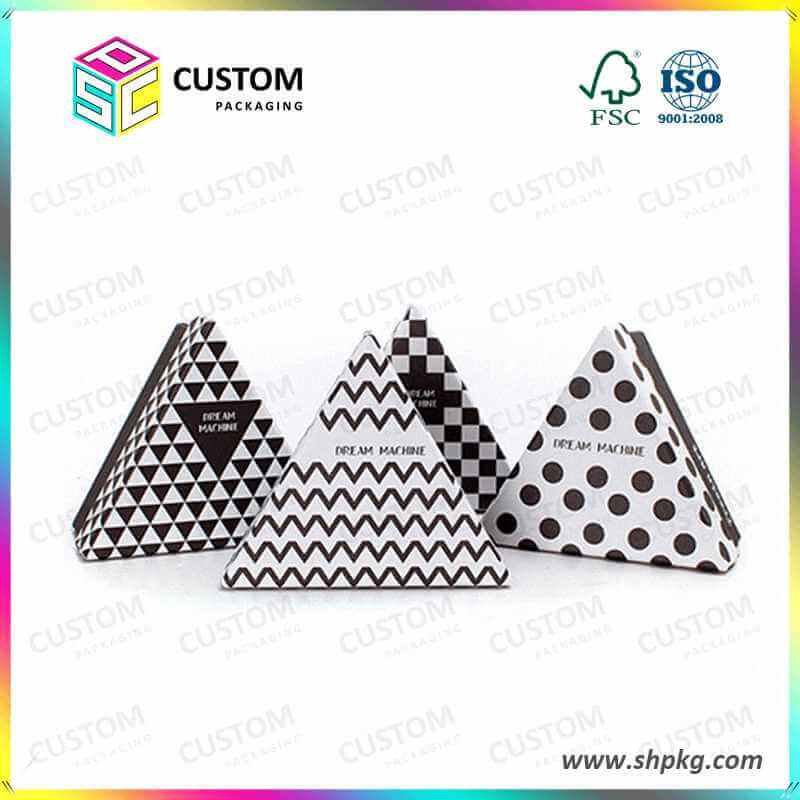 Triangle rigid gift box